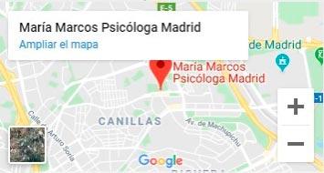 Ficha Google maps Maria Marcos Psicologa