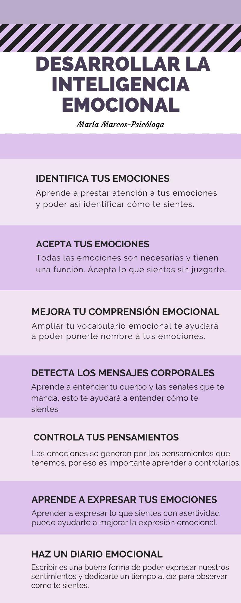 Infografia sobre la inteligencia emocional